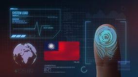 Система опознавания отпечатка пальцев биометрическая просматривая Национальность Тайваня стоковое изображение