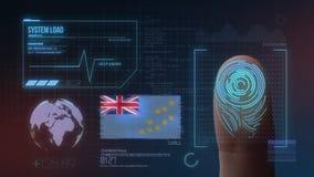 Система опознавания отпечатка пальцев биометрическая просматривая Национальность Тувалу стоковые изображения
