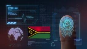 Система опознавания отпечатка пальцев биометрическая просматривая Национальность Вануату стоковые изображения rf