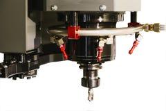Система охлаждения режущего инструмента современной обрабатывая машины Стоковое Изображение RF