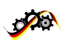 Система передачи с немецким флагом - вектор значка иллюстрация вектора