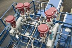 Система пневматических клапанов Стоковое Фото