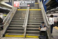 Система подземки New York City Стоковая Фотография