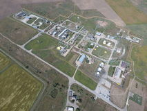 Система разъединения, взгляд сверху Разъединение и обезвоживание станции Aerophotographing Стоковая Фотография RF