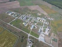 Система разъединения, взгляд сверху Разъединение и обезвоживание станции Aerophotographing Стоковое Изображение