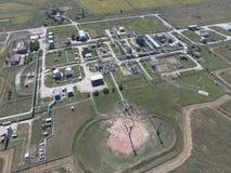 Система разъединения, взгляд сверху Разъединение и обезвоживание станции Aerophotographing Стоковые Изображения RF
