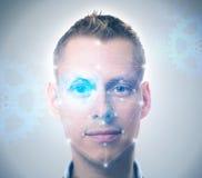 Система распознавания лиц Стоковое фото RF