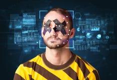 Система распознавания лиц Стоковые Изображения