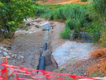 Система сточных водов здания в сельской Андалусии Стоковое Изображение RF