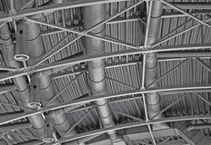 Система труб вентиляции кондиционера воздуха трубопровода Hvac стоковое фото rf