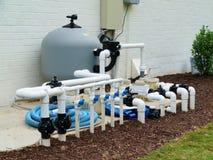 Система фильтрации бассейна стоковая фотография rf