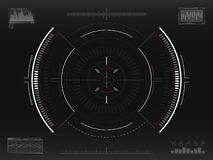 Система цели Футуристическая направляя концепция Современное перекрестие Интерфейс научной фантастики HUD UI с infographic элемен бесплатная иллюстрация