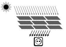 система энергии солнечная Стоковые Изображения RF
