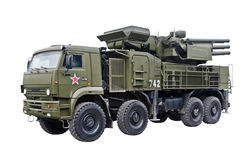 система s1 pantsyr реактивного снаряда пушки противовоздушнаяа оборона стоковое изображение rf