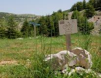 Система signage Barouk для велосипедов стоковая фотография rf