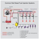 Системы дизеля коллектора системы впрыска топлива бесплатная иллюстрация