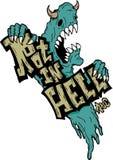 ситовина в дизайне футболки ада Стоковые Фото