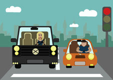 Ситуации на дороге Проблема избыточного веса Proble Стоковая Фотография
