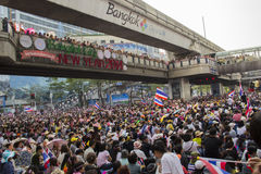 Ситуация протеста Бангкока в Таиланде Стоковые Изображения RF