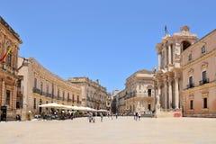 Сицилийский город Сиракузы в Италии стоковые изображения
