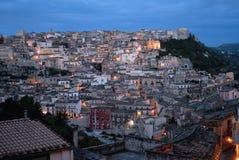 Сицилия, взгляд Ragusa Ibla Стоковые Изображения RF