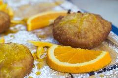 Сицилийские печенья заполненные с оранжевой сливк стоковые фотографии rf