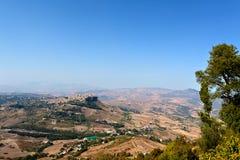 Сицилийский ландшафт Италия Стоковые Изображения RF