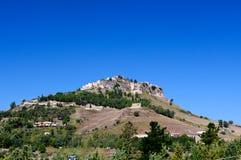 Сицилийский ландшафт, Calascibetta, Италия Стоковое Изображение RF