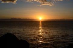 Сицилийский восход солнца Стоковые Фото
