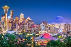 Сиэтл, Вашингтон, горизонт США стоковое фото rf