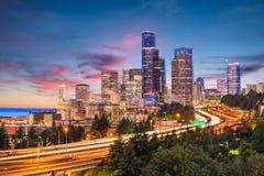 Сиэтл, Вашингтон, горизонт США стоковое изображение
