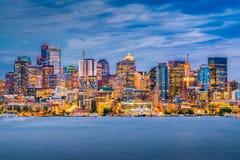 Сиэтл, Вашингтон, горизонт США стоковые изображения rf