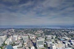 Сиэтл, США - 2-ое сентября 2018: Взгляд Сиэтл, Вашингтона сверху стоковая фотография rf