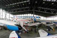 СИЭТЛ, WA - 8-ОЕ АПРЕЛЯ 2017: Музей полета в Сиэтл, Вашингтон, США Стоковое Изображение