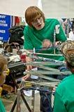 СИЭТЛ, WA - 17-ое марта - конкуренция робототехники положения предназначенная для подростков Стоковые Фото