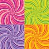Сияющая абстрактная предпосылка - апельсин, зеленый цвет, розовый Стоковые Изображения