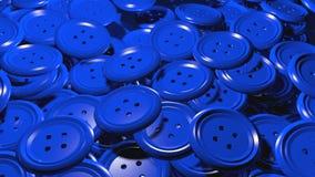 Сияющая группа в составе пластичные голубые одежды кнопки Стоковое Фото