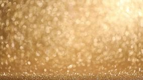 Сияющая золотая предпосылка светов сток-видео
