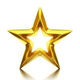 Сияющая золотая звезда бесплатная иллюстрация