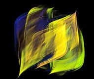 Сияющая накаляя предпосылка волн Стоковое Фото