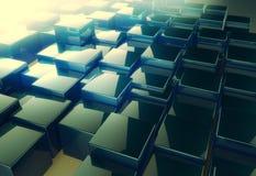Сияющая предпосылка конспекта картины куба Стоковые Изображения