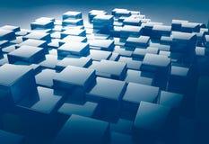 Сияющая предпосылка конспекта картины куба Стоковое фото RF