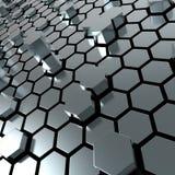 Сияющая предпосылка металлической пластины шестиугольника Стоковые Изображения RF