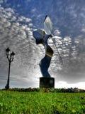 Сияющая скульптура металла Стоковые Изображения RF