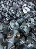 Сияющая стальная цилиндрическая предпосылка частей Стоковое Изображение RF
