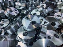 Сияющая стальная цилиндрическая предпосылка частей Стоковая Фотография