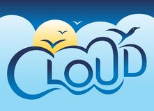 Сияющее облако Иллюстрация вектора