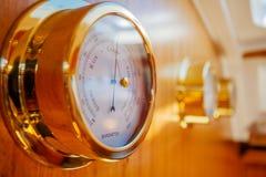 Сияющее barometr золота Стоковая Фотография RF