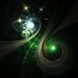 Сияющие бесконечные галактики в космическом пространстве Стоковое фото RF