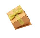 Сияющие коробки для подарков с смычком золота Стоковые Фотографии RF